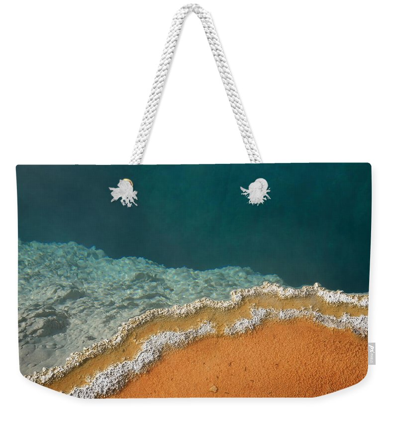 America Weekender Tote Bag featuring the photograph Yellowstone National Park - Hot Spring by Frank Romeo
