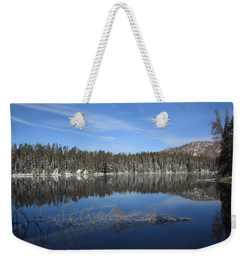 America Weekender Tote Bag featuring the photograph Yellowstone National Park - Mountain Lake by Frank Romeo