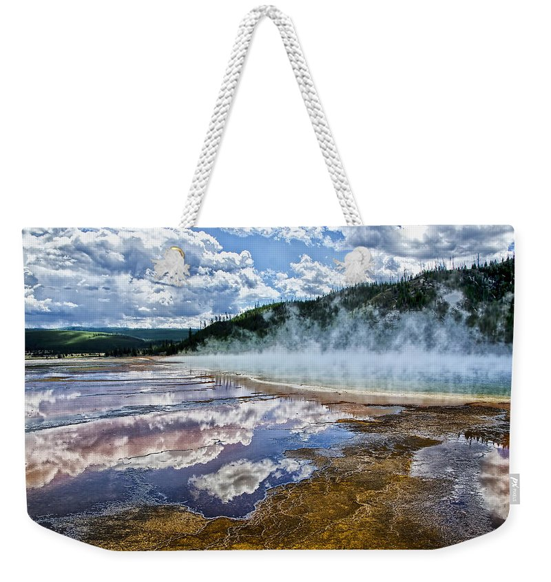 Yellowstone National Park Weekender Tote Bag featuring the photograph Yellowstone - Springs by Jon Berghoff