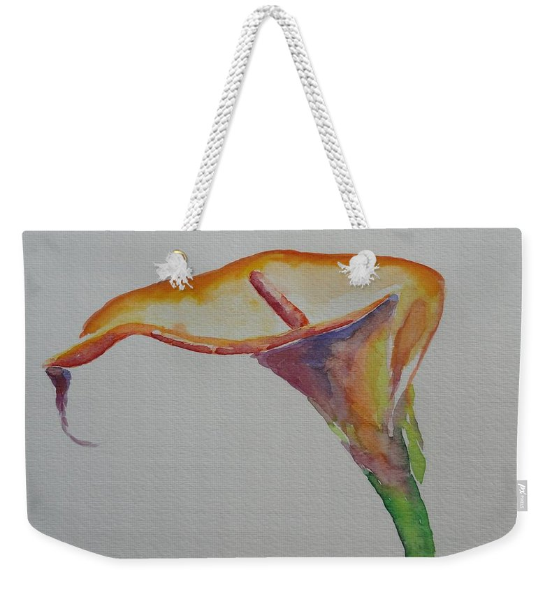 Calla Lily Weekender Tote Bag featuring the painting Yemanya by Shannon Grissom