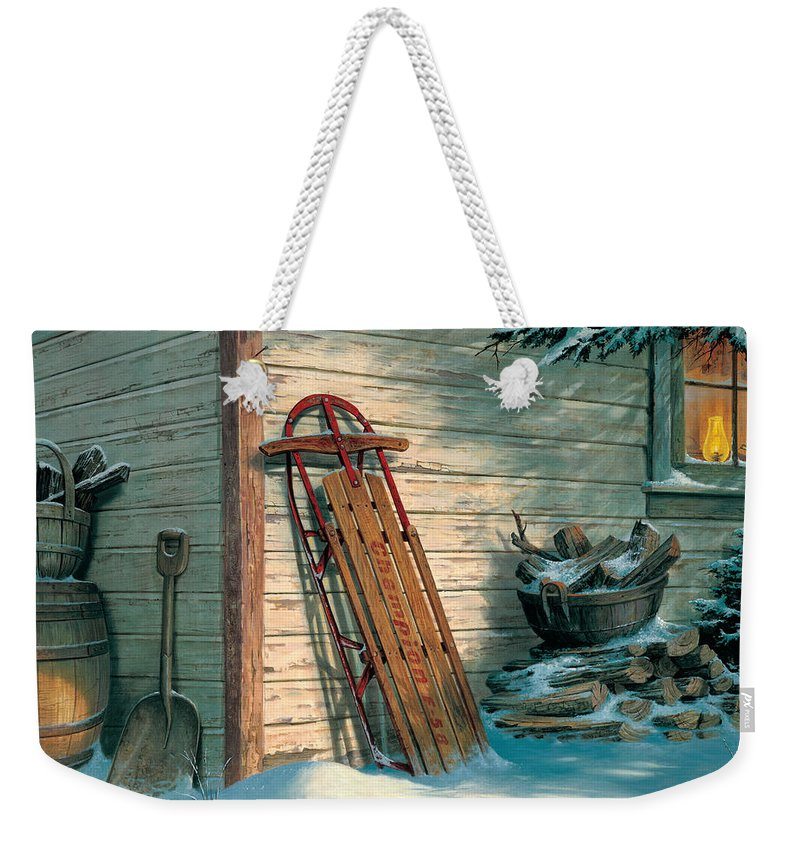 Michael Humphries Weekender Tote Bag featuring the painting Yesterday's Champioin by Michael Humphries