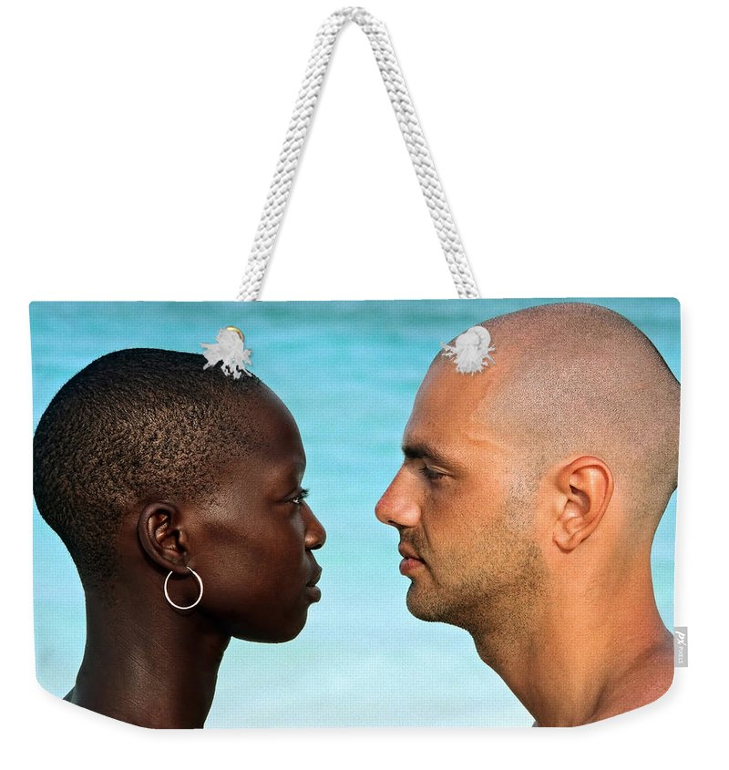 Man Weekender Tote Bag featuring the photograph Yin Yang by Skip Hunt