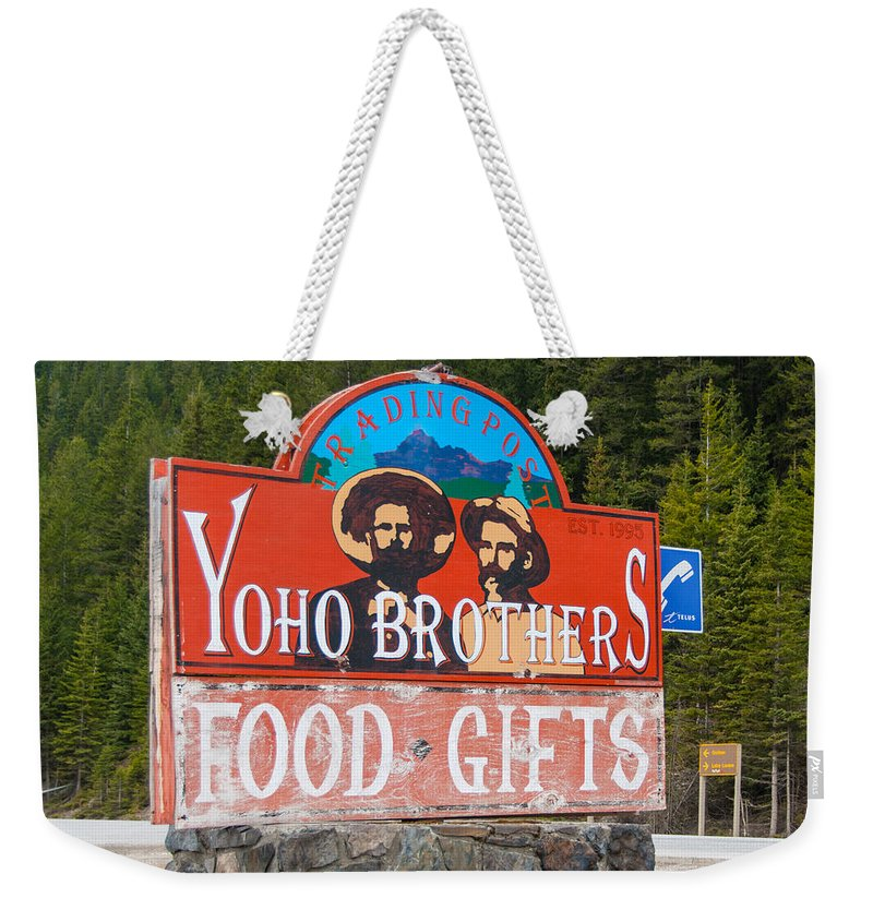 Canadian Rockies Weekender Tote Bag featuring the photograph Yoho Brothers by Guy Whiteley