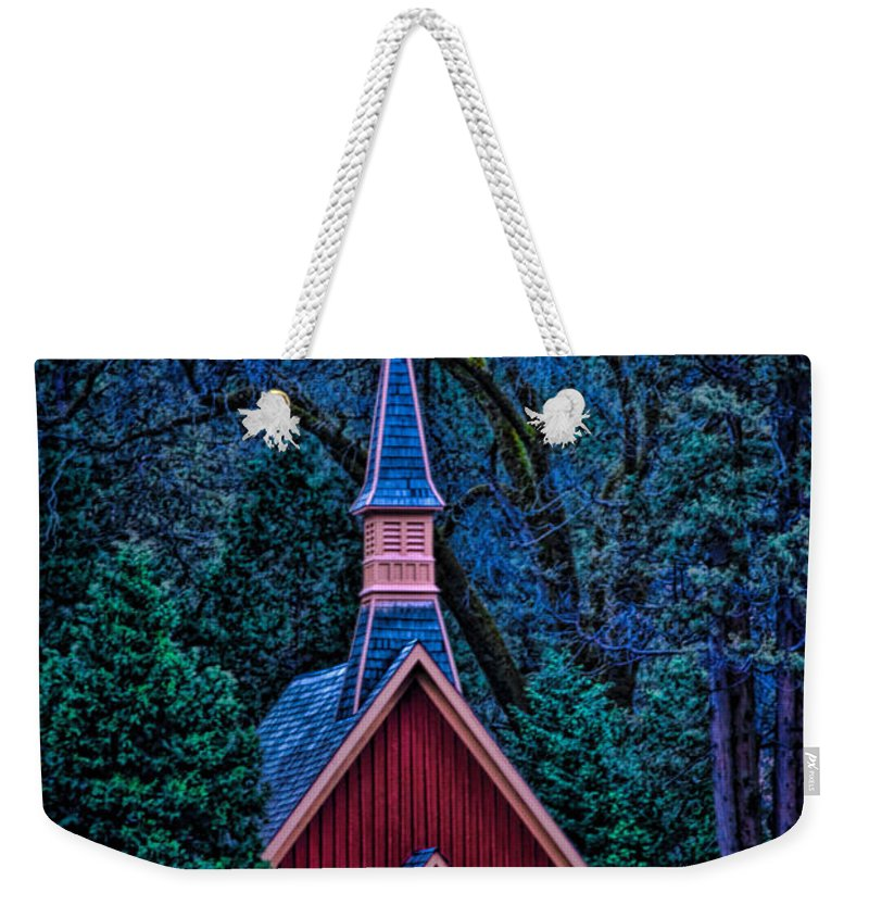 Architecture Weekender Tote Bag featuring the photograph Chapel by Maria Coulson