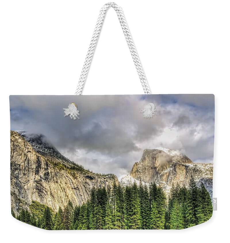 Landscape Weekender Tote Bag featuring the photograph Formidable by Maria Coulson