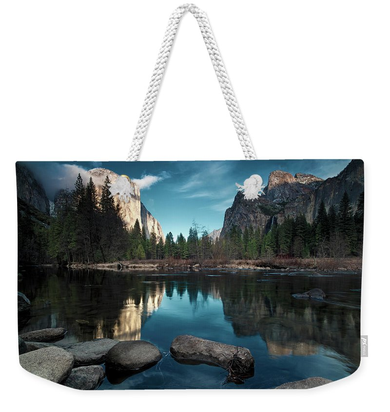 Scenics Weekender Tote Bag featuring the photograph Yosemite Valley by Joe Ganster
