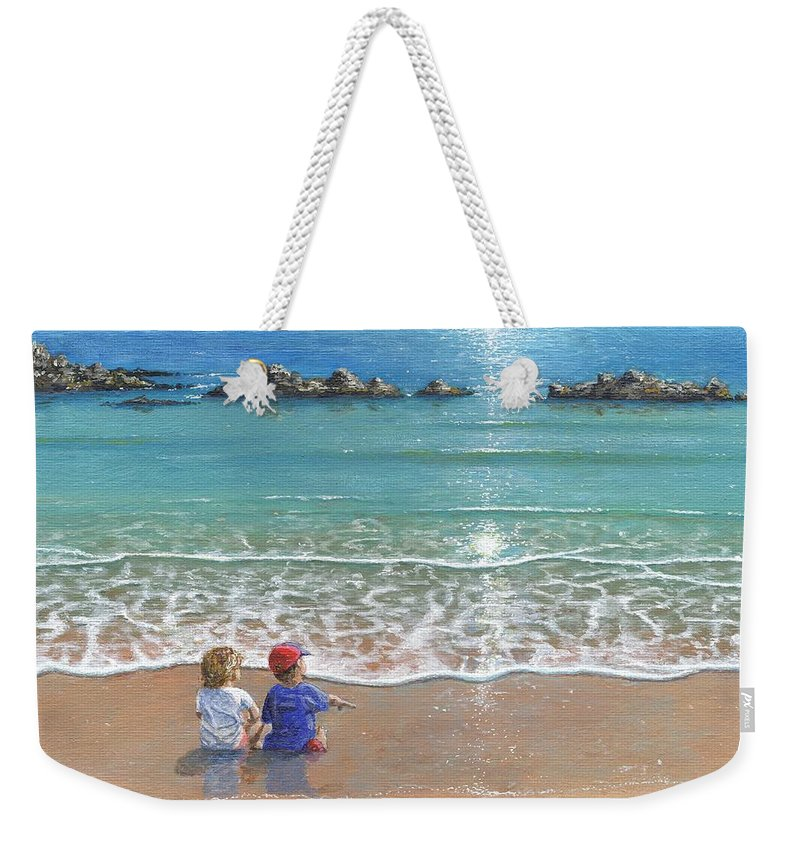 Landscape Weekender Tote Bag featuring the painting You And Me by Richard Harpum