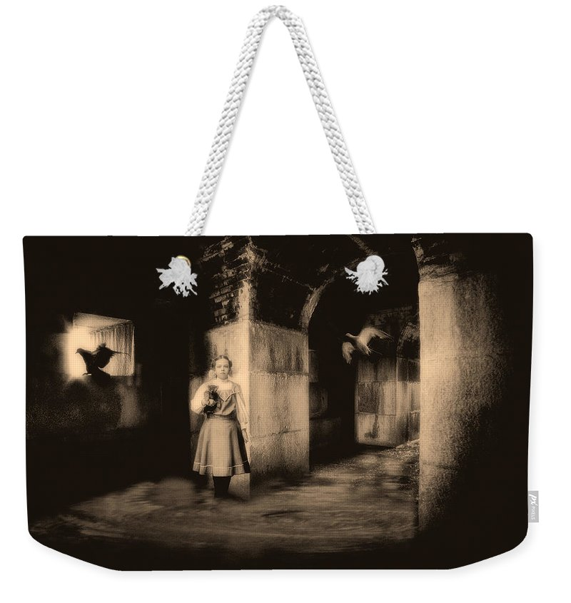 Child Weekender Tote Bag featuring the photograph You Ask The Question Maybe I Will Give The Answer by Bob Orsillo