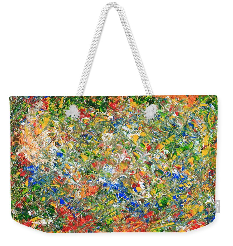 Original Weekender Tote Bag featuring the painting You Name  It by Carl Deaville