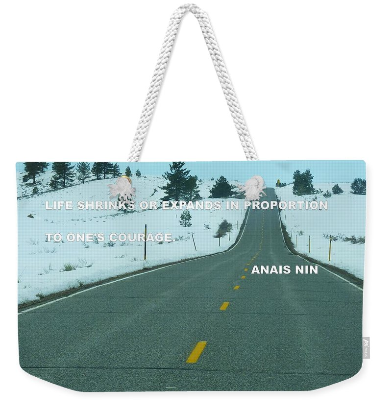 Weekender Tote Bag featuring the photograph Your Road by Anthony Walker Sr