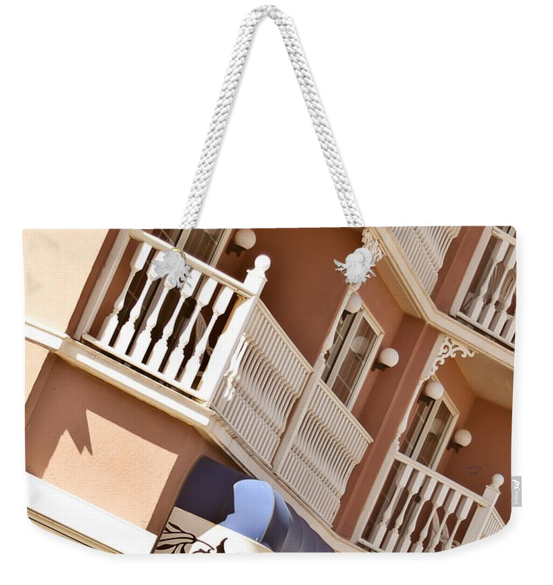 Weekender Tote Bag featuring the mixed media Your Room Is Ready by Trish Tritz