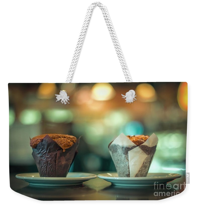 Cupcake Weekender Tote Bag featuring the photograph Your Sweetness Is My Weakness by Evelina Kremsdorf