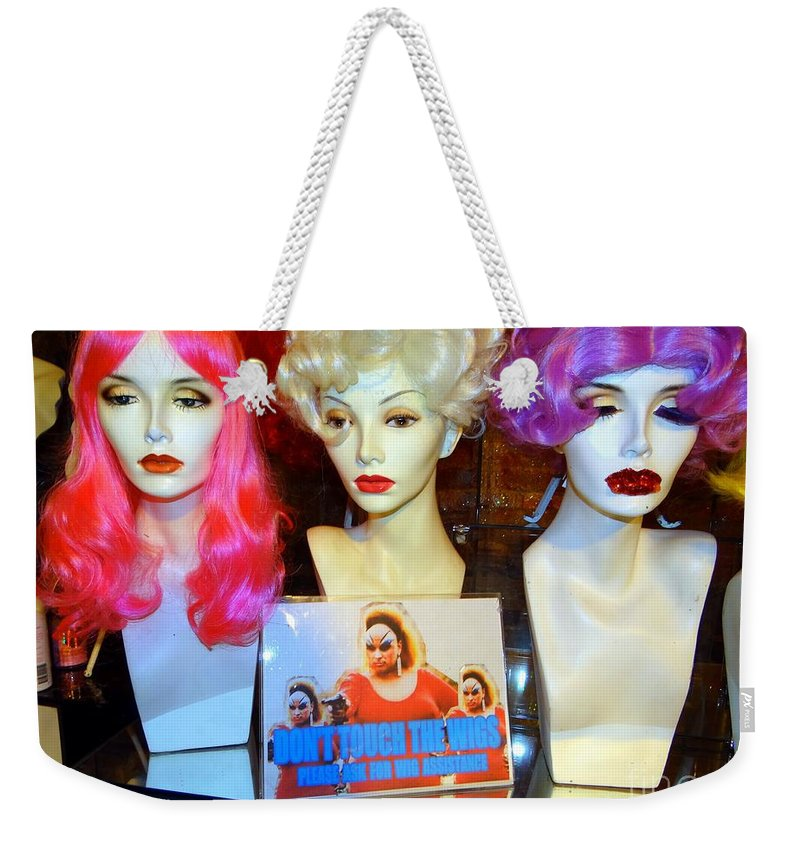 Mannequins Weekender Tote Bag featuring the photograph You've Been Warned by Ed Weidman