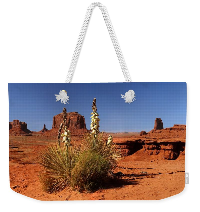 Tranquility Weekender Tote Bag featuring the photograph Yucca In Monument Valley by © Jan Zwilling