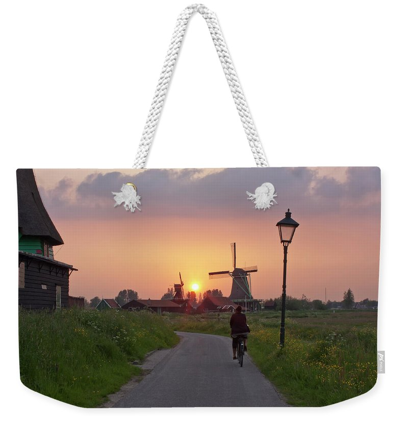 North Holland Weekender Tote Bag featuring the photograph Zaanse Schans Windmills by Ivan