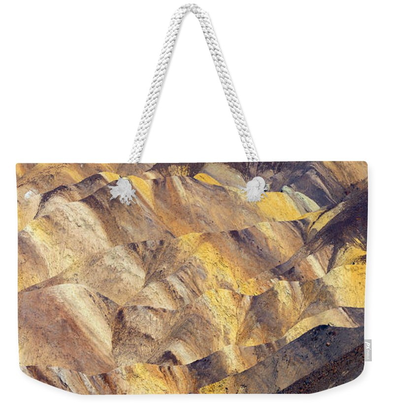 Zabriskie Point Weekender Tote Bag featuring the photograph Zabriskie Color by Mike Dawson