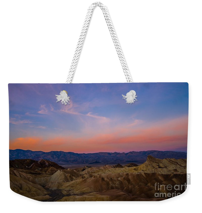 2013 Weekender Tote Bag featuring the photograph Zabriskie Point Sunrise by Joan Wallner