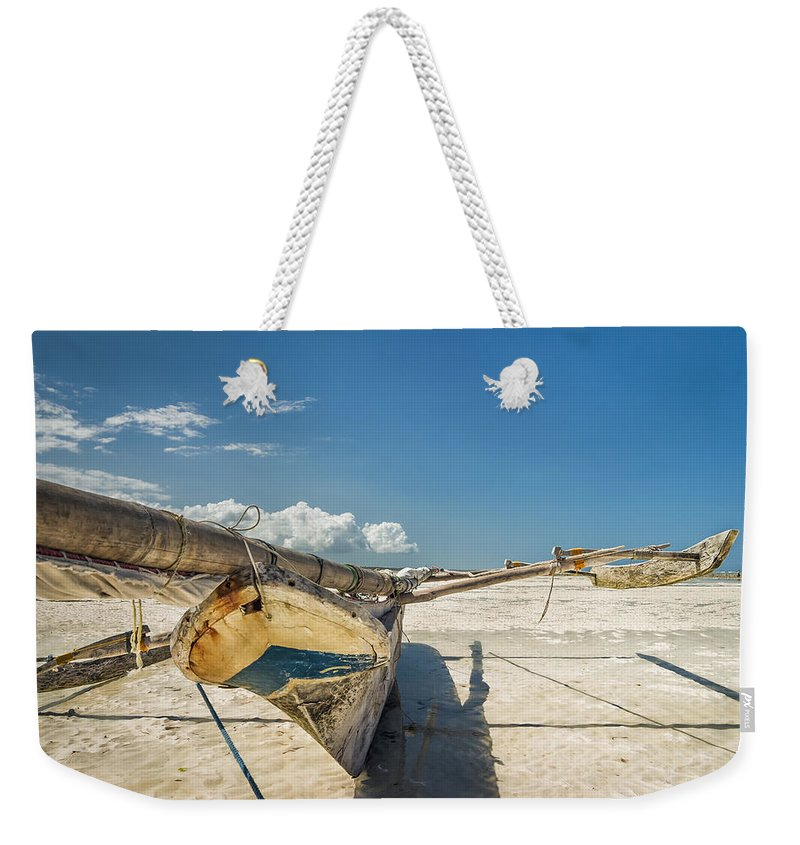 3scape Weekender Tote Bag featuring the photograph Zanzibar Outrigger by Adam Romanowicz