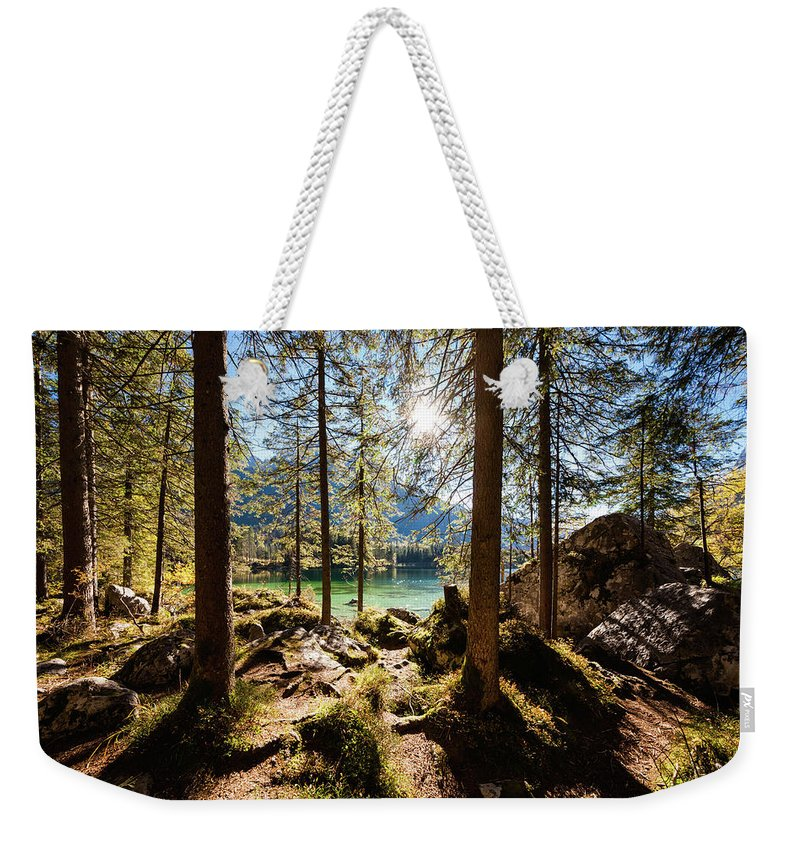 Tranquility Weekender Tote Bag featuring the photograph Zauberwald In Autumn by Jorg Greuel