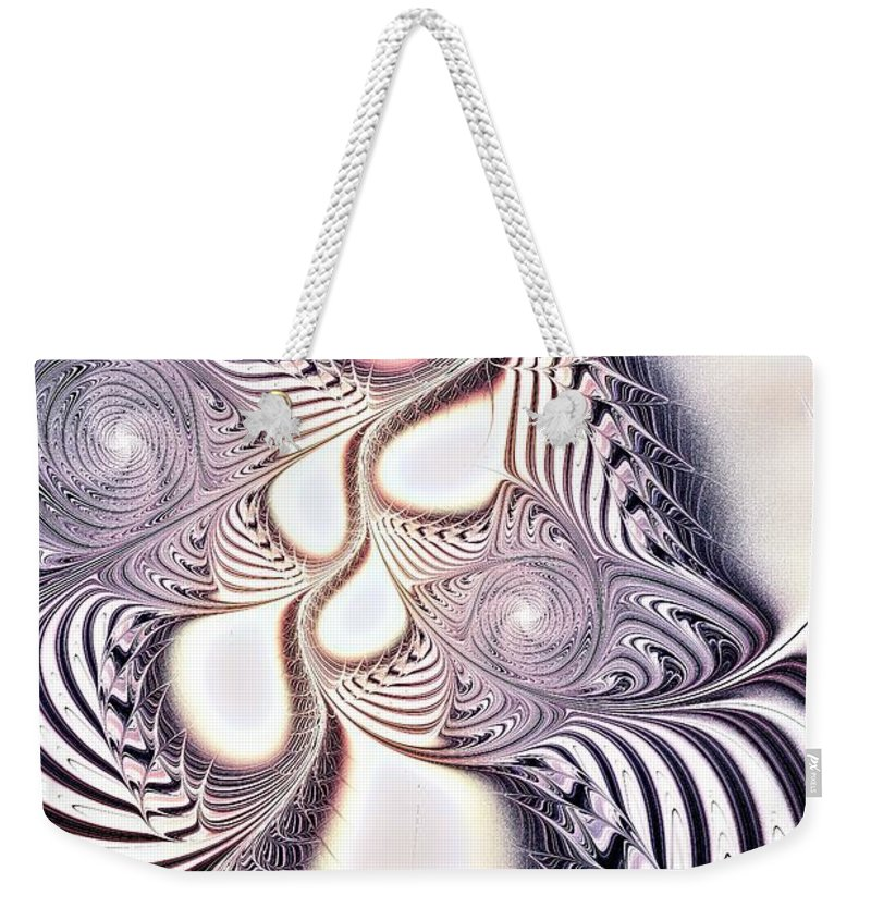 Malakhova Weekender Tote Bag featuring the digital art Zebra Phantasm by Anastasiya Malakhova
