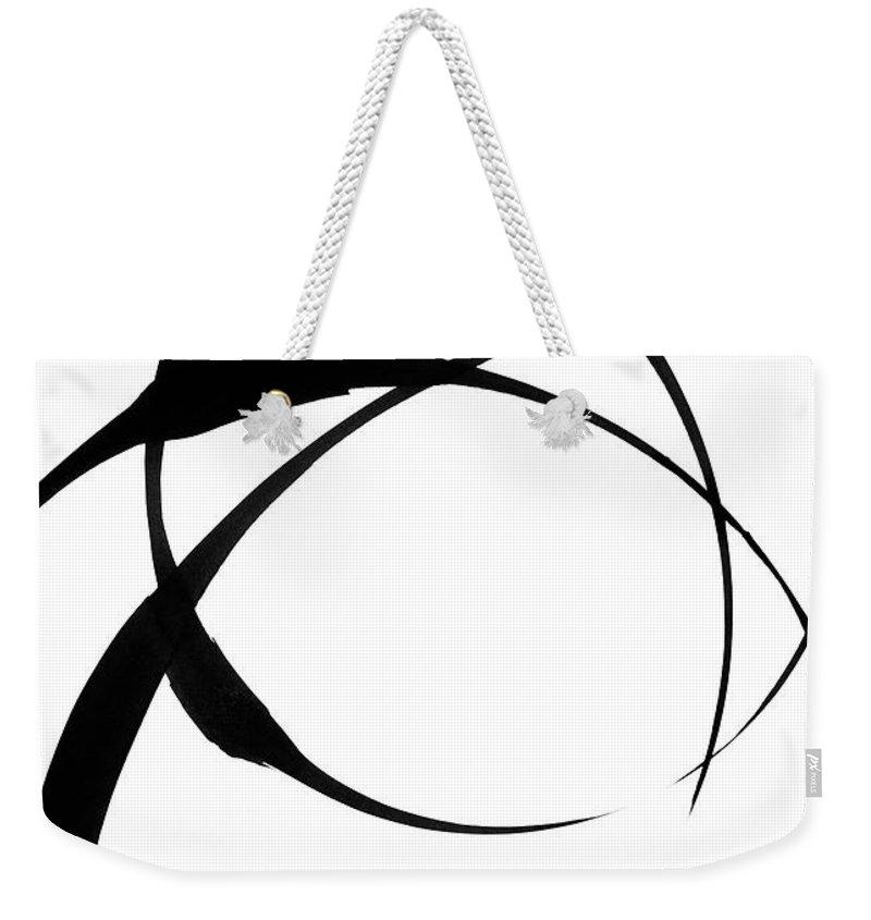 Zen Weekender Tote Bag featuring the painting Zen Circles 4 by Hakon Soreide