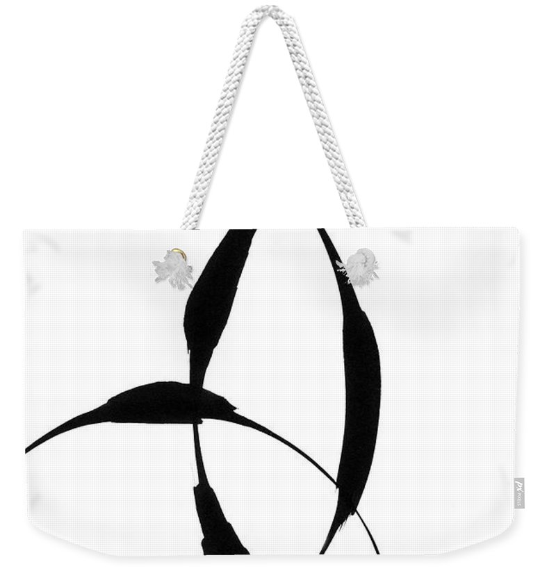 Zen Weekender Tote Bag featuring the painting Zen Circles 5 by Hakon Soreide