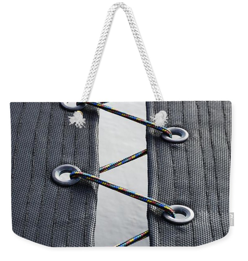 Wendy Weekender Tote Bag featuring the photograph Zig-zag by Wendy Wilton