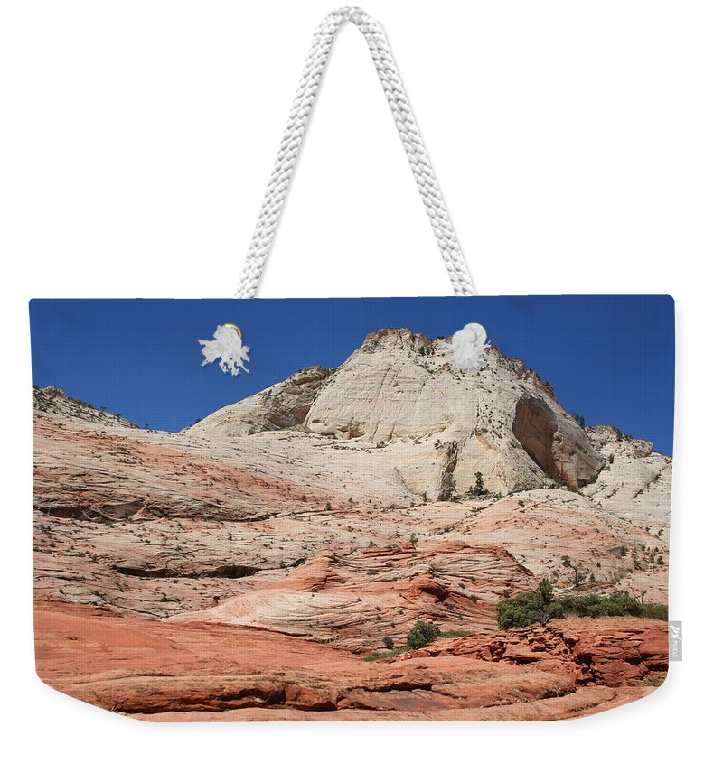 Mountains Weekender Tote Bag featuring the photograph Zion Park - Rock Texture by Christiane Schulze Art And Photography