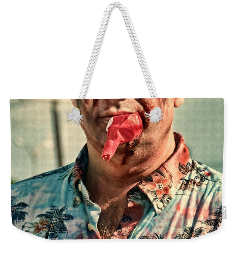 Zombie Weekender Tote Bag featuring the photograph Zombie Run Nola 21 by Kathleen K Parker