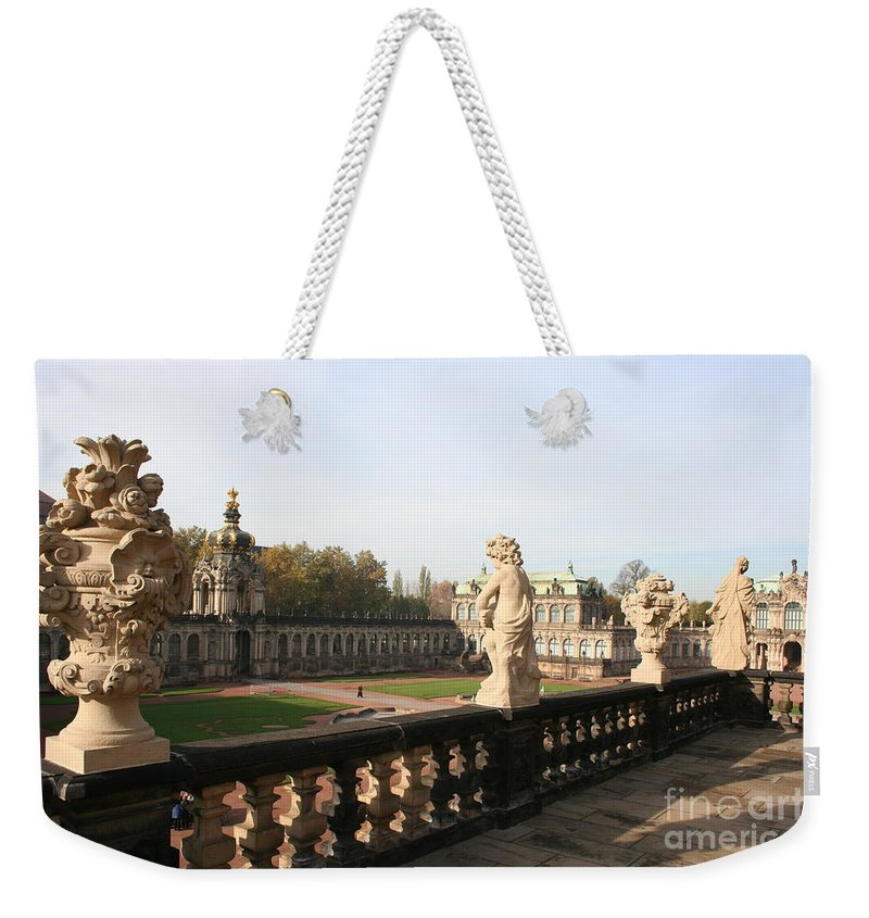 Zwinger Weekender Tote Bag featuring the photograph Zwinger Courtyard Dresden by Christiane Schulze Art And Photography
