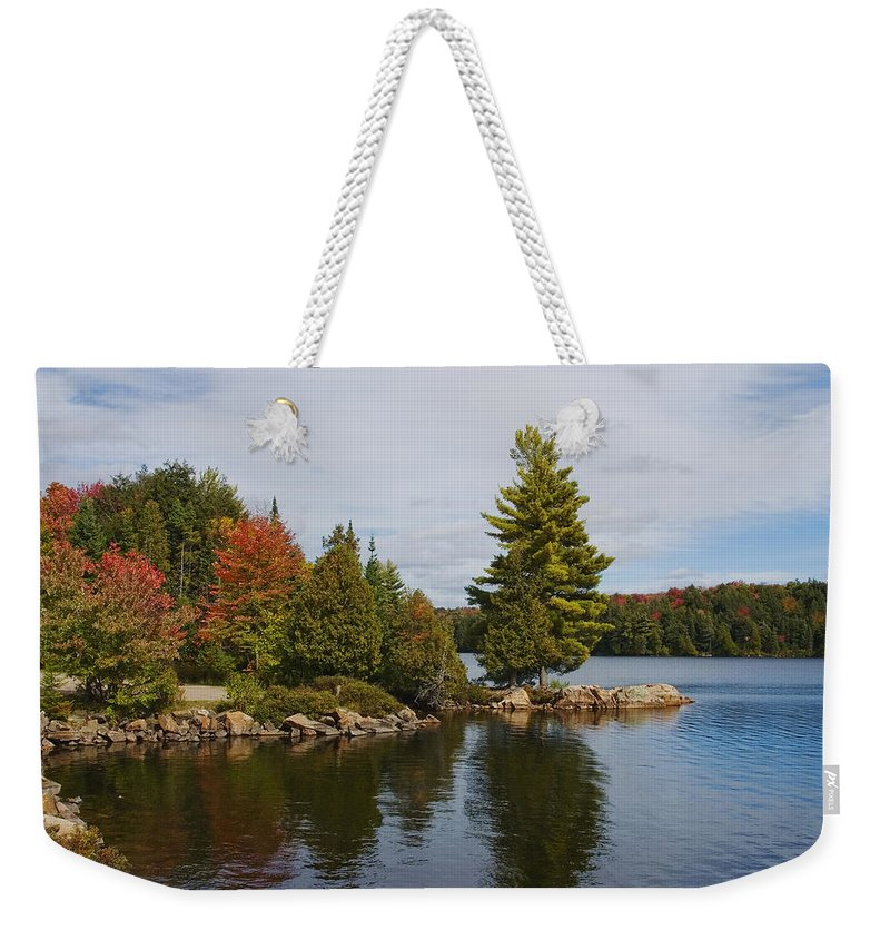 Canada Weekender Tote Bag featuring the digital art Algonquin - Canoe Lake by Pat Speirs