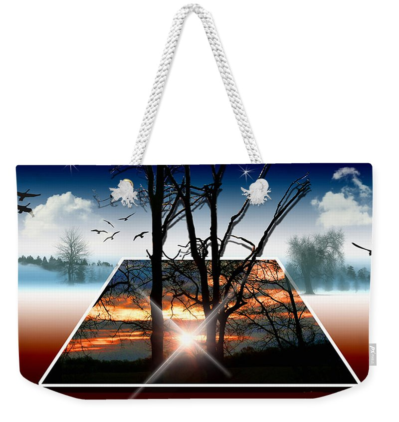 Sunrise Weekender Tote Bag featuring the photograph Into Another Dimension by Ericamaxine Price