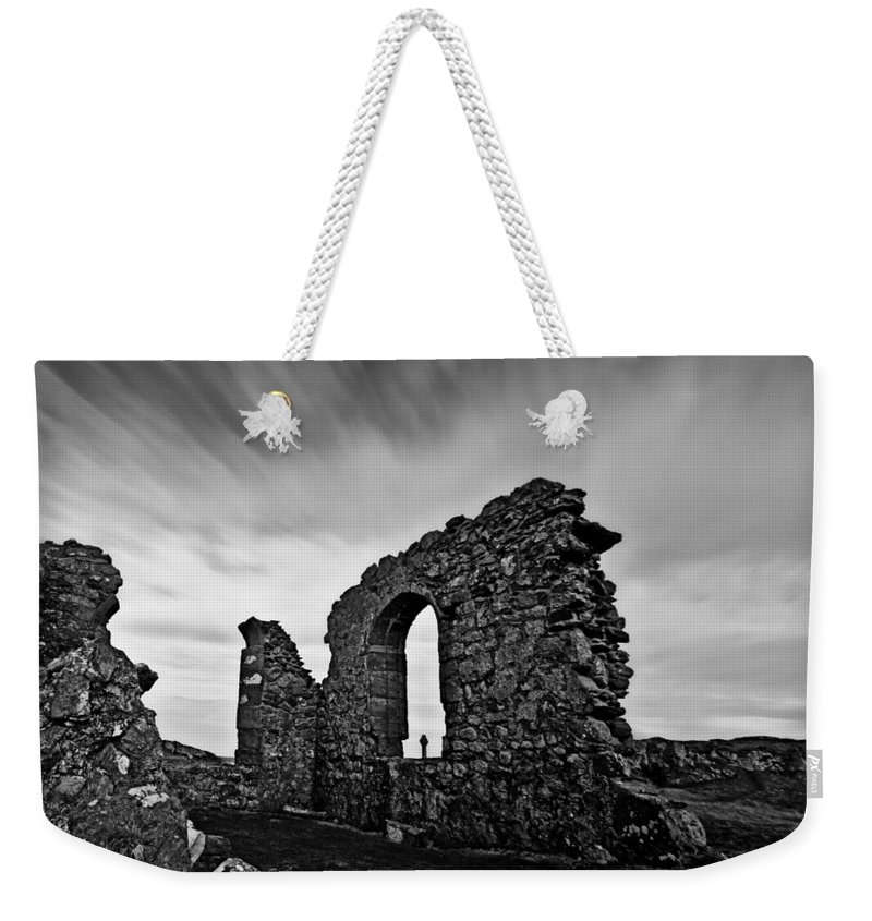 Church Weekender Tote Bag featuring the photograph Llanddwyn Island Ruins by Beverly Cash