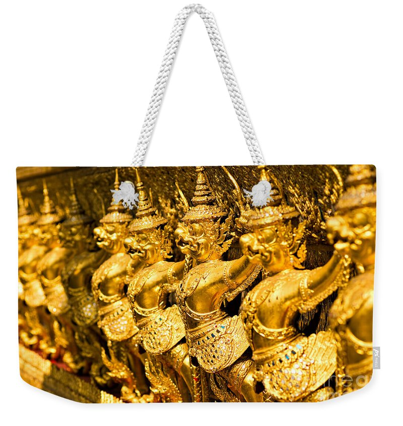 Ancient Weekender Tote Bag featuring the photograph Wat Phra Kaeo by Luciano Mortula
