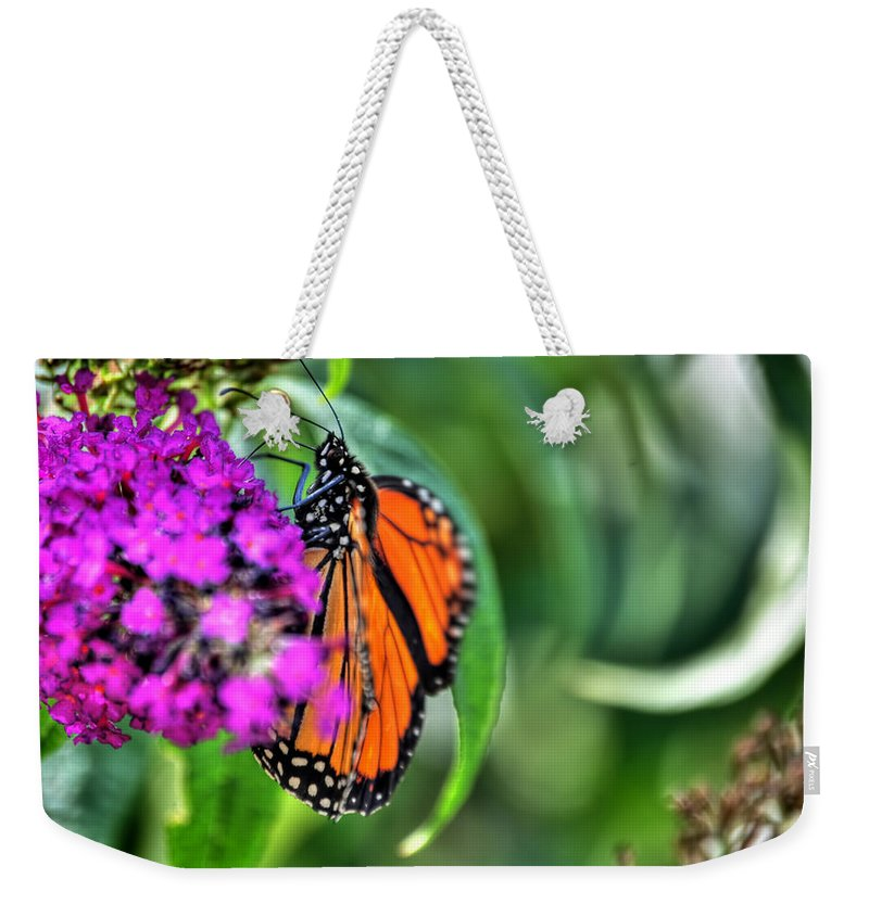 Weekender Tote Bag featuring the photograph 001 Making Things New Via The Butterfly Series by Michael Frank Jr