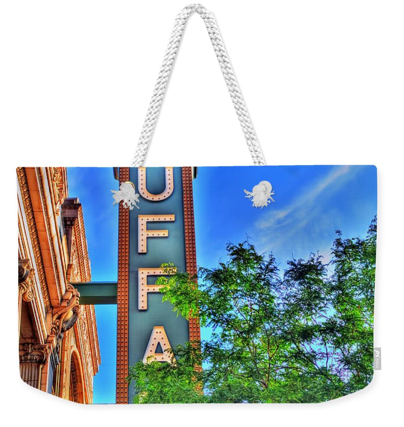 Weekender Tote Bag featuring the photograph 001 Sheas Buffalo by Michael Frank Jr