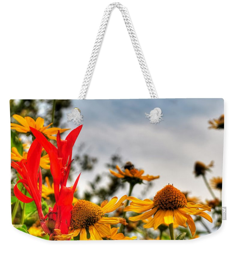 Weekender Tote Bag featuring the photograph 001 Summer Air Series by Michael Frank Jr