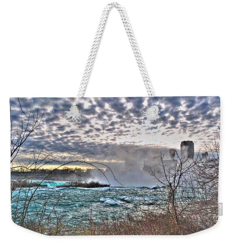 Weekender Tote Bag featuring the photograph 0018 View Of Horseshoe Falls From Terrapin Point Series by Michael Frank Jr
