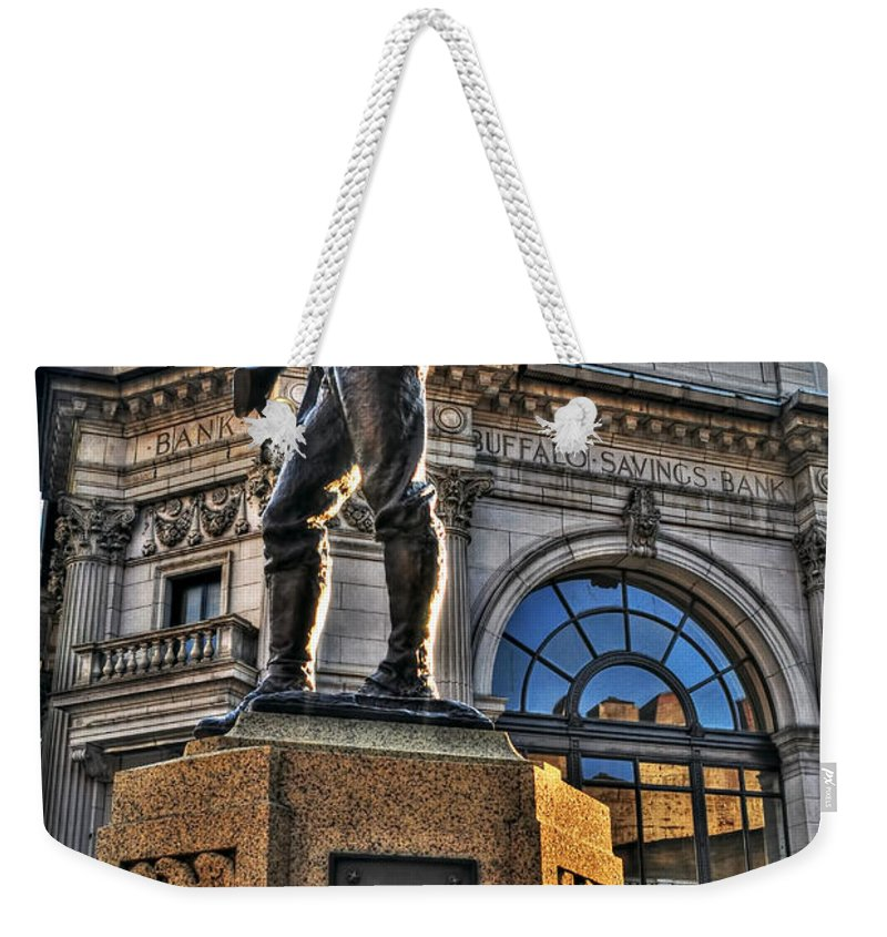 Weekender Tote Bag featuring the photograph 005 The Hiker by Michael Frank Jr