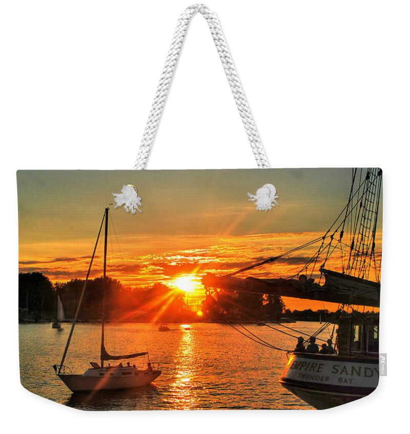 Weekender Tote Bag featuring the photograph 008 Empire Sandy Series by Michael Frank Jr