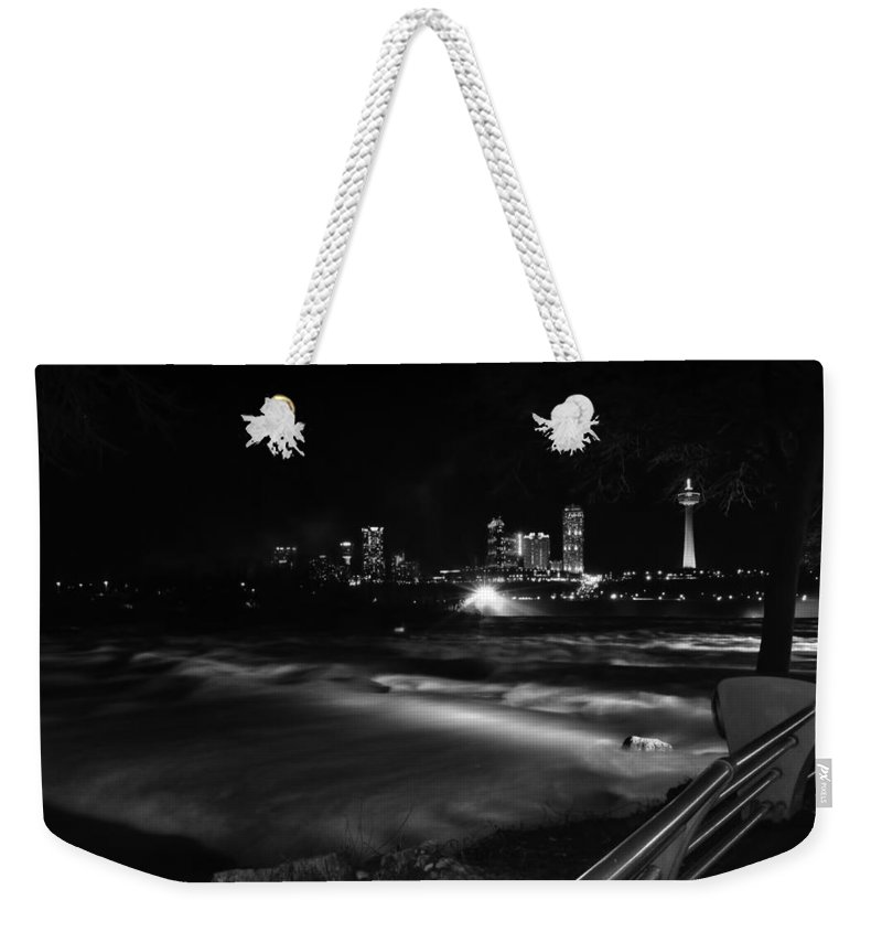 Weekender Tote Bag featuring the photograph 010 Niagara Falls Usa Rapids Series by Michael Frank Jr