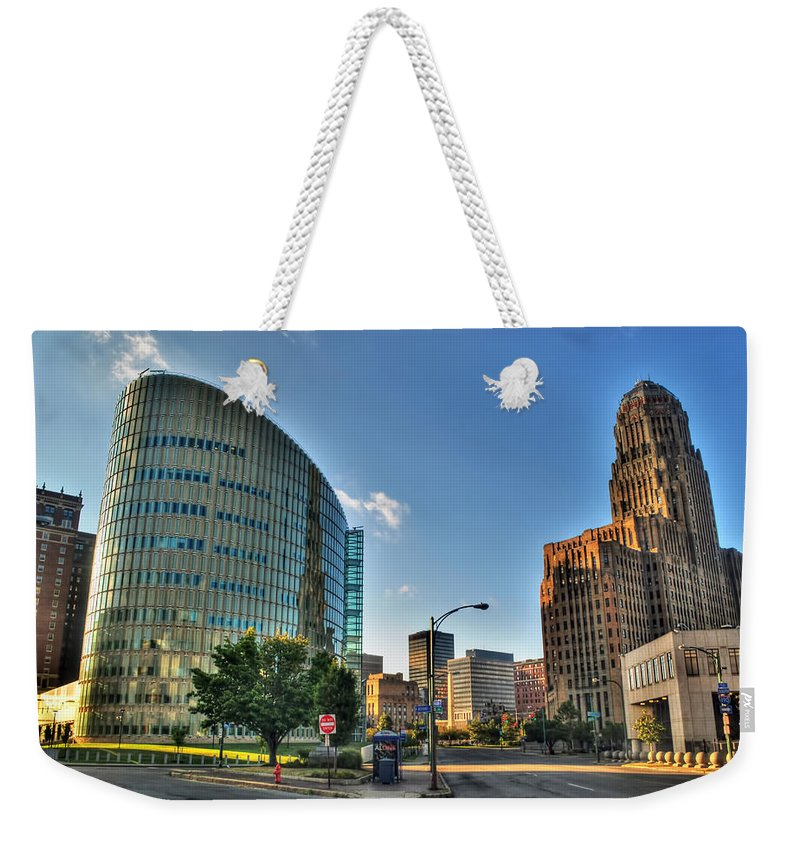Weekender Tote Bag featuring the photograph 010 Wakening Architectural Dynamics by Michael Frank Jr