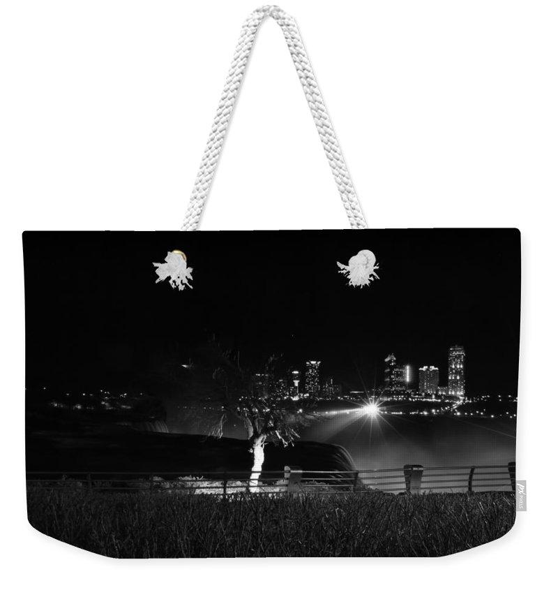 Weekender Tote Bag featuring the photograph 014 Niagara Falls Usa Series by Michael Frank Jr