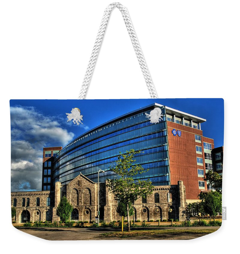 Weekender Tote Bag featuring the photograph 017 Wakening Architectural Dynamics by Michael Frank Jr