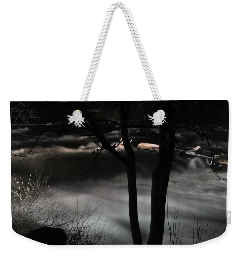 Weekender Tote Bag featuring the photograph 02 Niagara Falls Usa Rapids Series by Michael Frank Jr