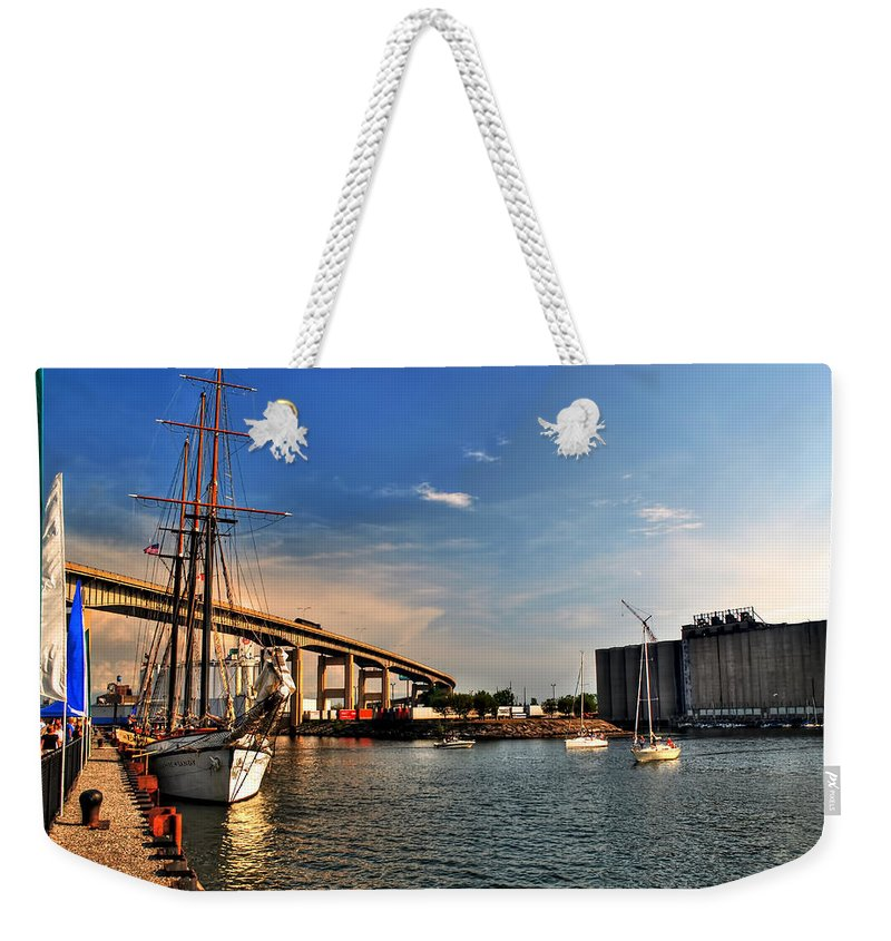 Weekender Tote Bag featuring the photograph 025 Empire Sandy Series by Michael Frank Jr