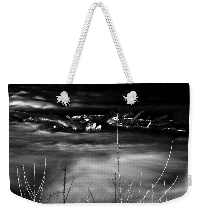 Weekender Tote Bag featuring the photograph 03 Niagara Falls Usa Rapids Series by Michael Frank Jr