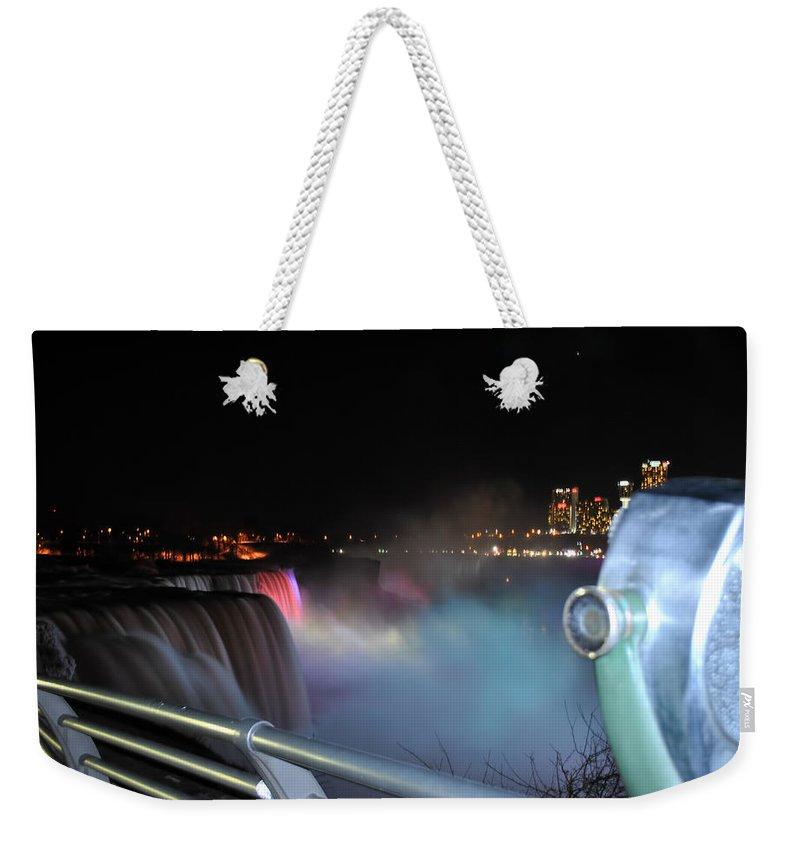 Weekender Tote Bag featuring the photograph 04 Niagara Falls Usa Series by Michael Frank Jr