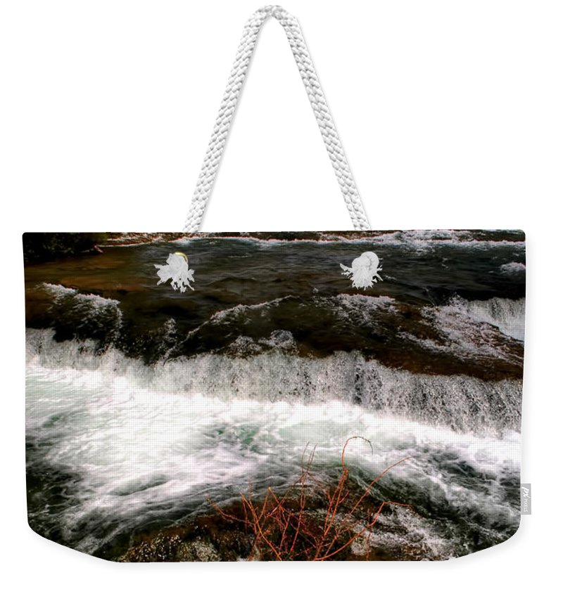 Weekender Tote Bag featuring the photograph 04 To The Three Sisters Island by Michael Frank Jr