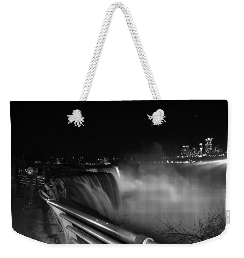 Weekender Tote Bag featuring the photograph 06 Niagara Falls Usa Series by Michael Frank Jr